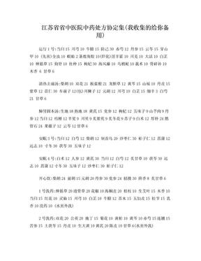 江苏省中医院协定方.doc