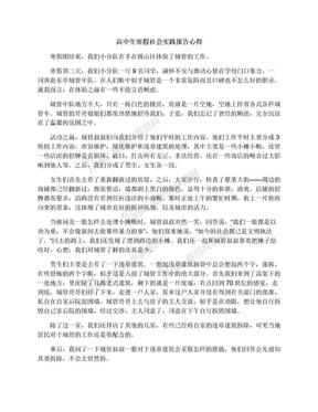 高中生寒假社会实践报告心得.docx