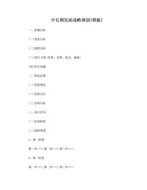 中长期发展战略规划(模板).doc