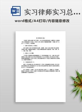 实习律师实习总结.docx