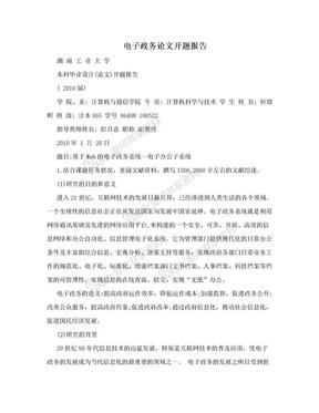 电子政务论文开题报告.doc