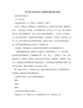 小学语文四年级上册课外阅读练习题2.doc