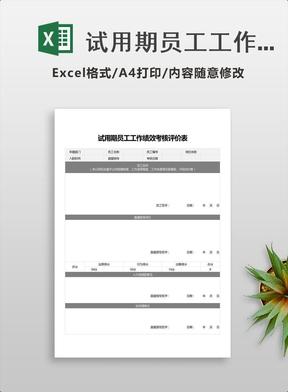 试用期员工工作绩效考核评价表.xlsx