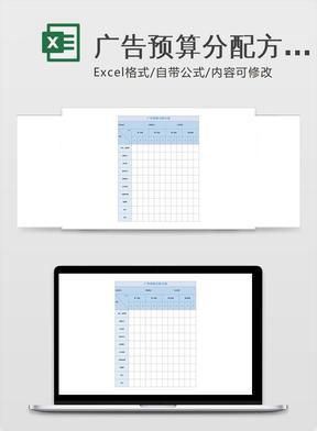 广告预算分配方案.xlsx