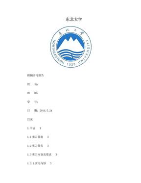 东北大学鞍钢实习报告.doc