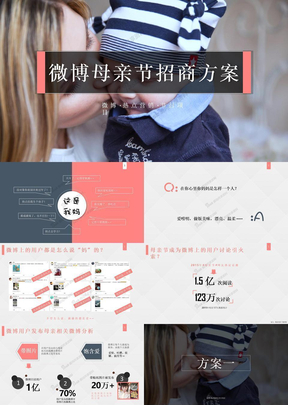 2017年母亲节推广策划招商方案