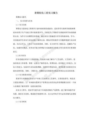 暑期轻化工程实习报告.doc