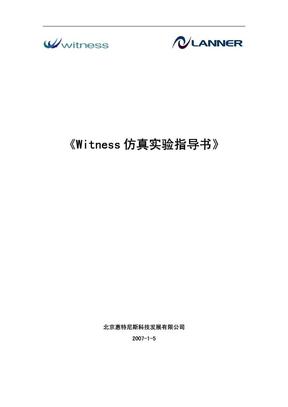 Witness仿真实验指导书.pdf