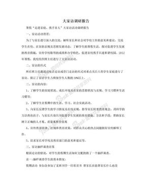 大家访调研报告.doc