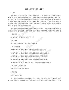 污水处理厂实习报告3000字.docx