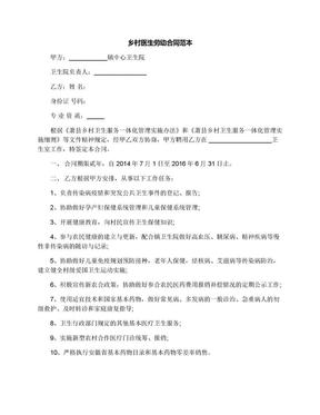 乡村医生劳动合同范本.docx
