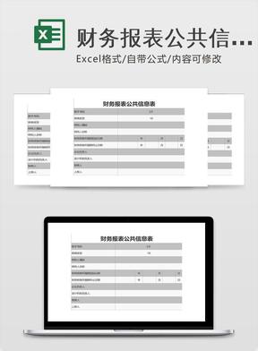 财务报表公共信息表-Excel图表模板.xlsx