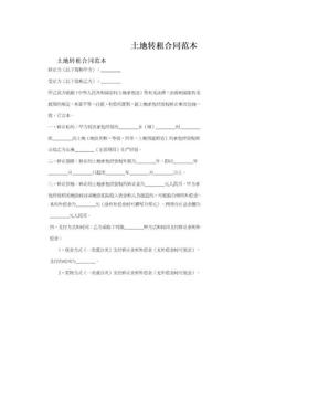 土地转租合同范本.doc