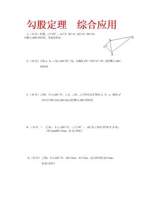 勾股定理综合应用试题.doc