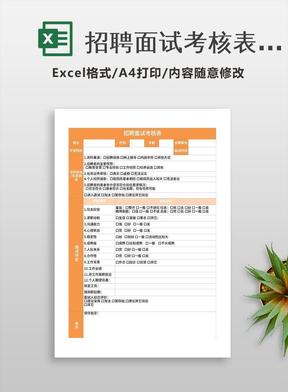 招聘面试考核表excel模板excel表格模板.xls