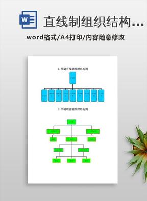 直线制组织结构图