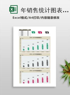 年销售统计图表Excel模板.xlsx