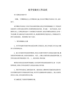 初中化学实验室工作总结.doc