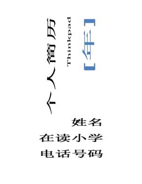 简历模板 1(精美 适合沉稳型).doc