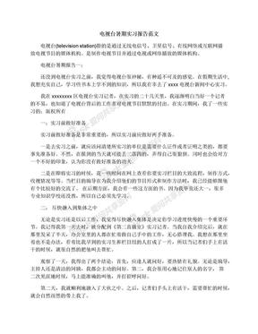 电视台暑期实习报告范文.docx