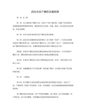 武汉市房地产测绘实施细则(武房发[2010]3号文).doc