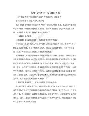 初中化学教学中知识树[方案].doc