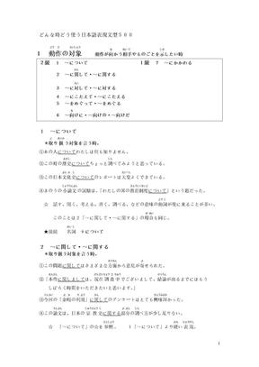 どんな时どう使う日本语表现文型500.doc