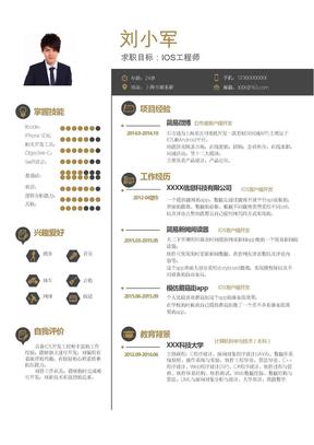 IOS工程师简历Word简历模板.docx