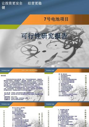 7号电池项目可行性研究报告1.ppt