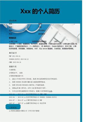 项目工程师优秀简历.docx.docx