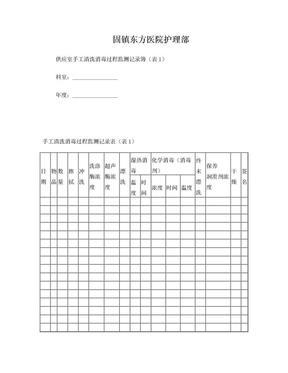 供应室手工清洗消毒过程监测记录簿(表1).doc