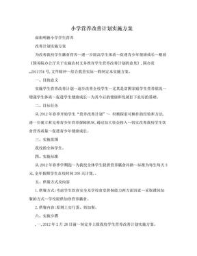 小学营养改善计划实施方案.doc