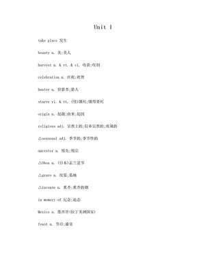 人教版英语必修三单词表.doc