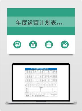 年度运营计划表模板.xls