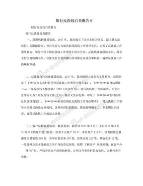 银行反洗钱自查报告0.doc