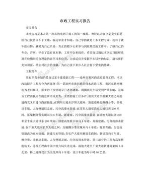 市政工程实习报告.doc