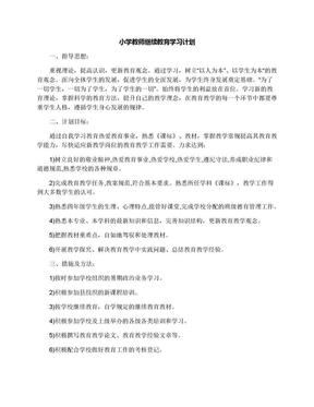 小学教师继续教育学习计划.docx