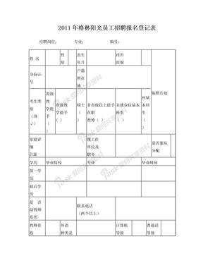 幼儿园教师登记报名表.doc