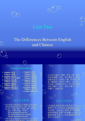英汉翻译:英语与汉语的不同之处.ppt