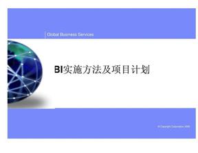 BI实施方法及项目计划