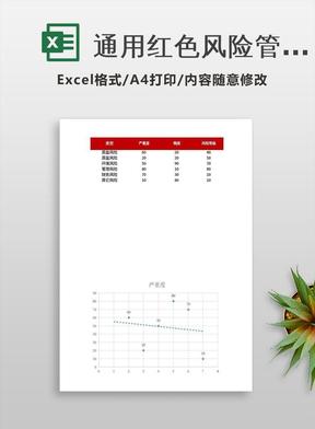 通用红色风险管理表excel表模板.xlsx