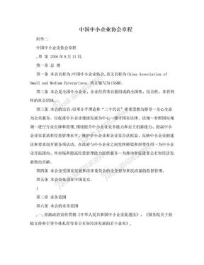 中国中小企业协会章程.doc