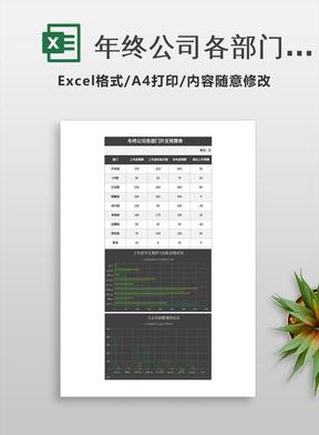 年终公司各部门开支预算表excel模板.xlsx
