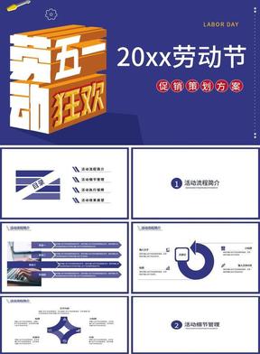 2019年五一劳动节狂欢主题PPT模板商业促销活动策划方案PPT.pptx