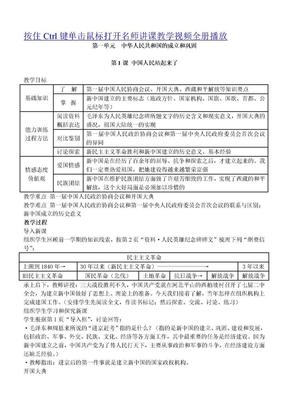 2014整理人教版八年级历史下册全册教案.doc