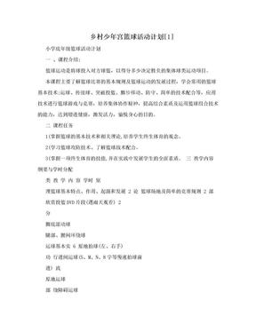 乡村少年宫篮球活动计划[1].doc