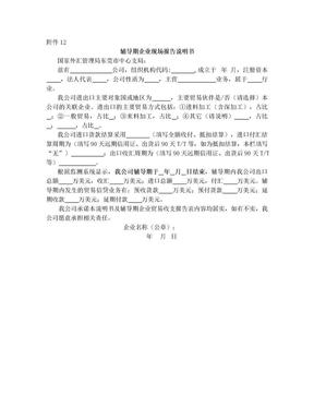 辅导期企业现场报告说明书 - 东莞市外汇管理局.doc
