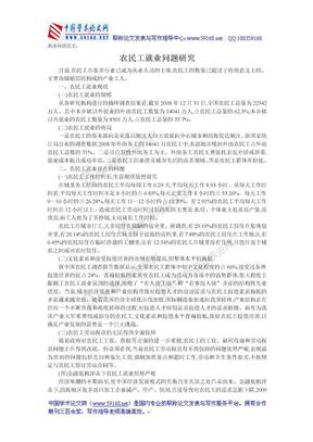 就业问题论文:农民工就业问题研究.doc