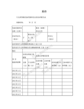 个税自查报告模板.doc