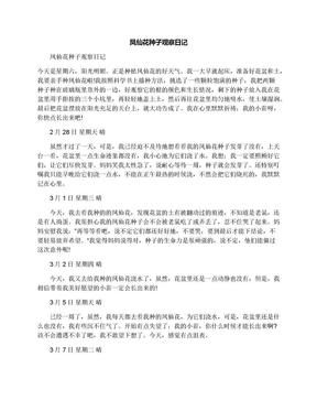 凤仙花种子观察日记.docx